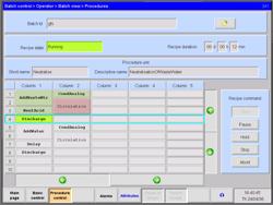 Recipe control user interface